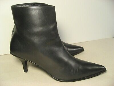Vintage GUCCI Tom Ford 90s Gray Leather Stiletto Boots Booties size 39 C or 9