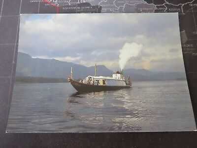 Postcard. Steam Yacht Gondola, Coniston Water, Cumbria. 1980/90s