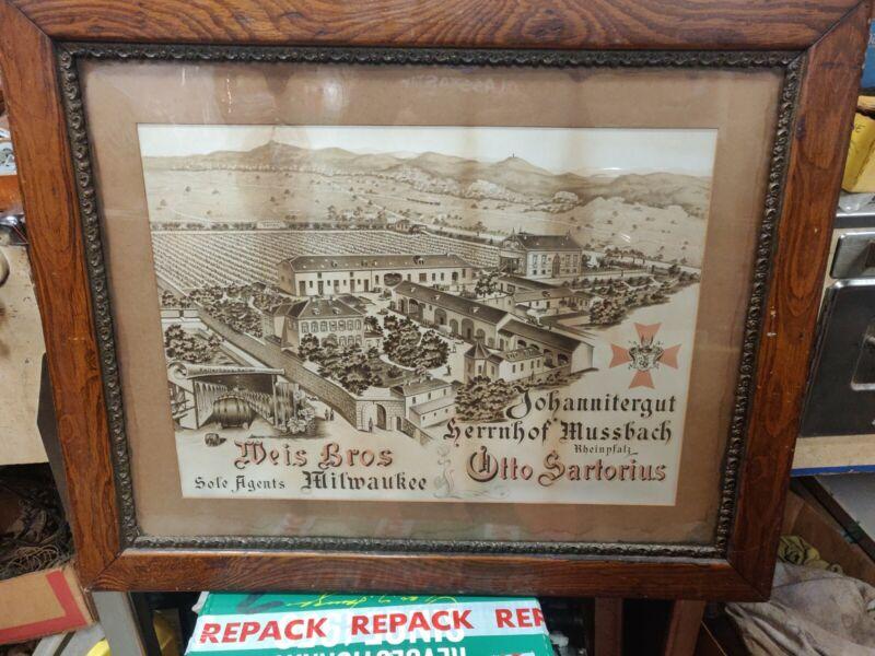 Weis Bros. Milwaukee Wisconsin Pre Prohibition Whiskey Liquor Dealer Litho
