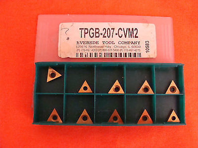 New Old Stock Everede Tpgb-207-cvm2 Carbide Inserts Lot Of 10
