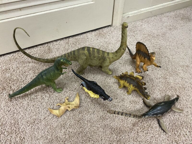 The Carnegie Collection Large Hard Plastic Dinosaur Lot- Safari Ltd 80s/90s-Cool