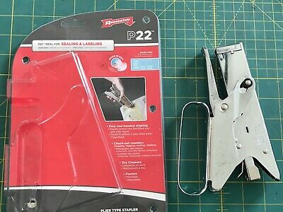 Arrow Fastener P22 Heavy Duty Plier Type Stapler 100 Steel Made In Usa