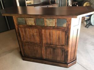 Solid wood bar unit