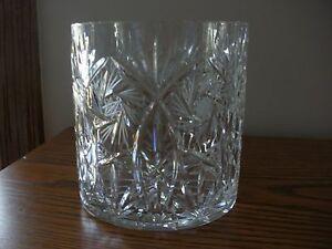 Vintage Elegant Lead Crystal Star Pattern Ice Bucket, w/watermark