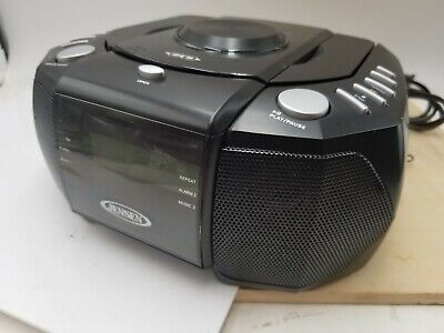 Jensen JCR-310 Dual Alarm Clock Radio with CD Player working