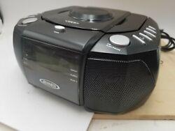 Jensen JCR-310 Dual Alarm Clock Radio with CD Player working