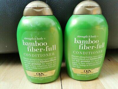 2x OGX Strength & Body + Bamboo Fiber-Full Conditioner 385ml New