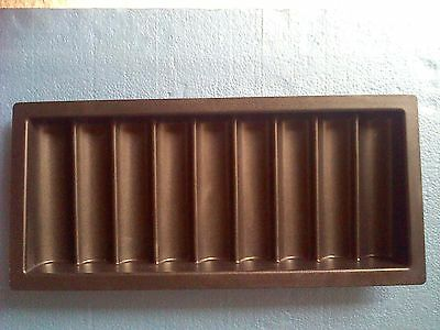 9 row thick chip tray for poker chips