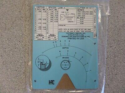 Hpc Cf96 Fiat Stradayugo Auto Key Code Machine Code Card