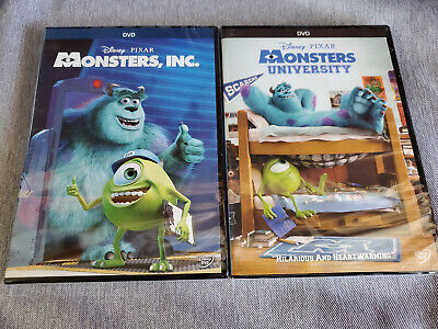 Monsters Inc and Monsters University Disney / Pixar DVD Movie Bundle Brand New!