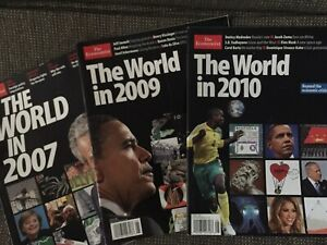 The World in 2007, 2009, 2010