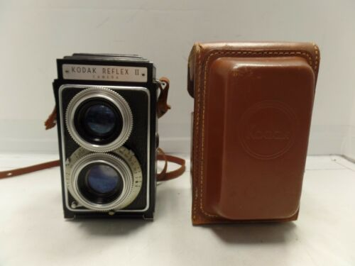 Vintage Kodak Reflex II w/ leather case all original CAMERA