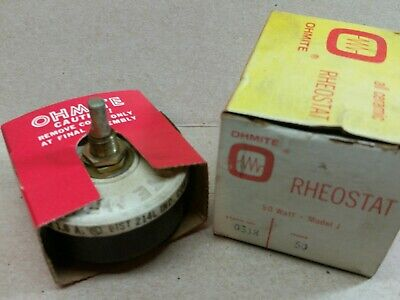 Ohmite 0318 50 1.0 A. Model J Rheostat Potentiometer