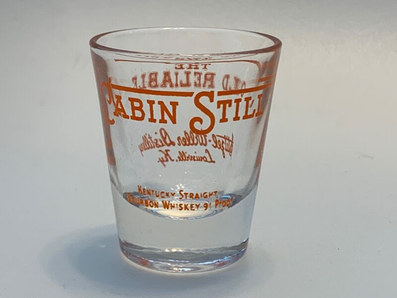 Cabin Still Bourbon Shot Glass The Old Reliable Louisville KY Barware
