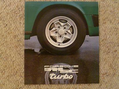1978 Porsche 911 DELUXE Showroom Advertising Sales Brochure w/o Spec Ssheet RARE