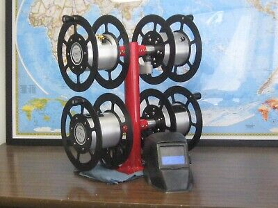 Welding Quad Reel 2-600 Amps Power Twin Welding Hose Reel