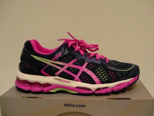 ASICS Women's Gel Kayano 22 Running Shoe, Indigo Blue/Pink Glow/Pistachio, 8 2A US GEL-Kayano® 22-W