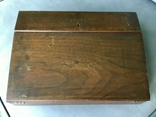Antique Decorated Wood Lap Desk