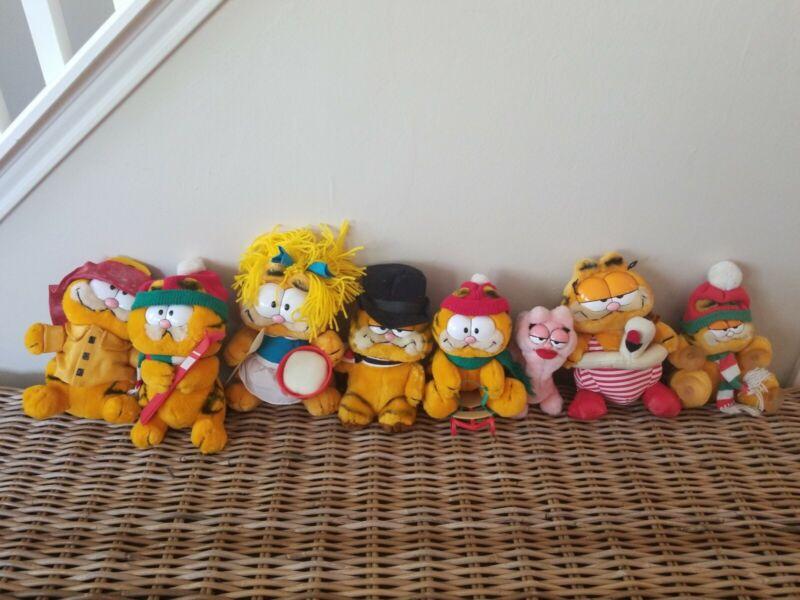 Vintage Garfield Plush Toy Stuffed Animal Lot Of 8