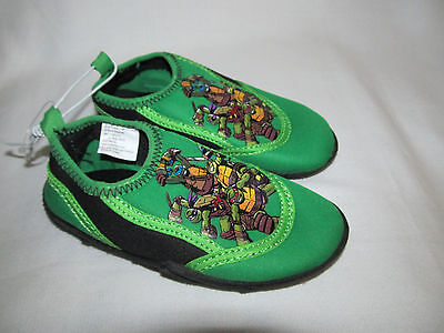 New Toddler Boys Teenage Mutant Ninja Turtles Water Beach Shoes Size Small 5 6 - Ninja Turtles Shoes
