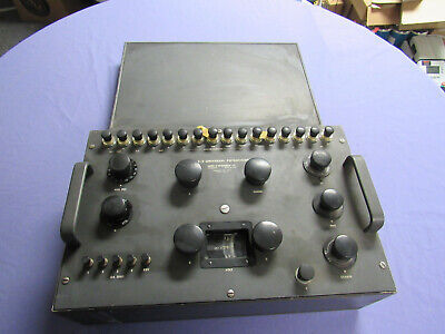 Nice Vintage Leeds Northrup 7553 Type K3 Universal Potentiometer With Cover