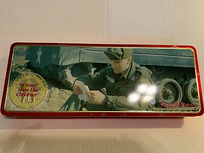 "Vintage Russell Stover Elvis Presley ""It Won't Seem Like Christmas"" Candy Tin"