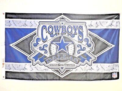 5' Outdoor Indoor Banner (Dallas Cowboys NFL Banner Flag 5' foot Outdoor Indoor minor wear and hole)