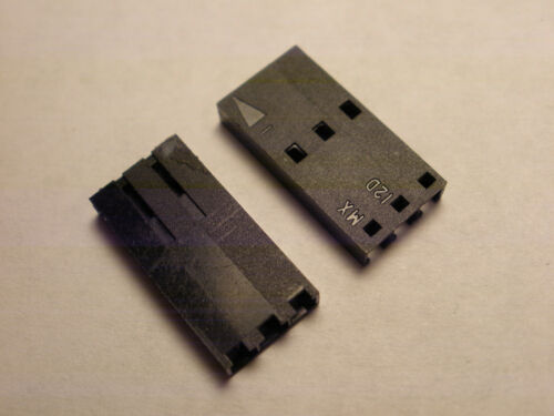 ( 20 PC. ) MOLEX 50-57-9003, 3 POSITION HOUSING ONLY, SINGLE ROW, 2.54MM PITCH,