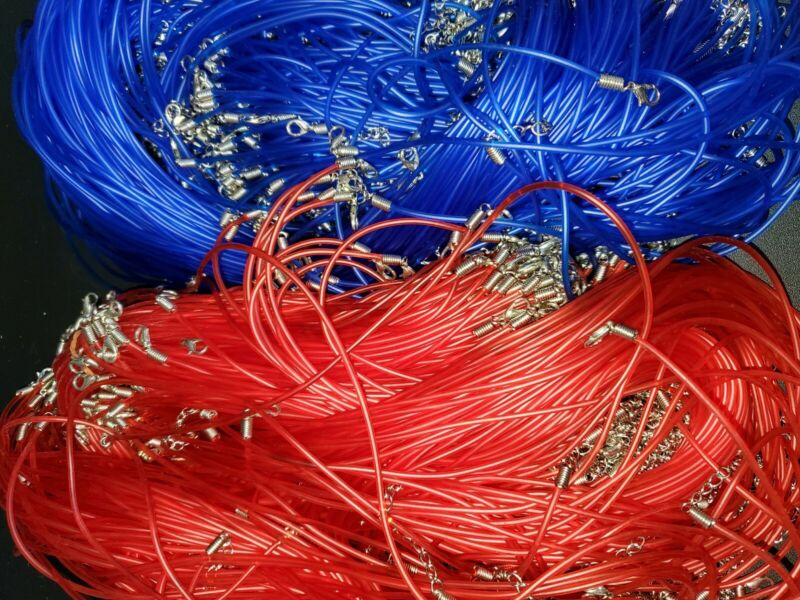 New 100 pc lot Red & BLUE Jelly Necklaces Closeout Wholesale