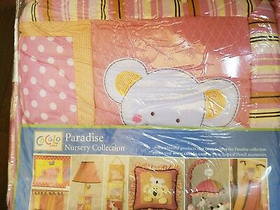 NEW COCALO PARADISE TROPICAL PUNCH 4 PIECE NURSERY CRIB BEDDING -