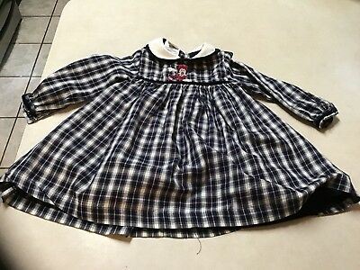 Vintage Little Girls Disney Store Dress Minnie Mouse Black White Size - Little Girls Clothing Store