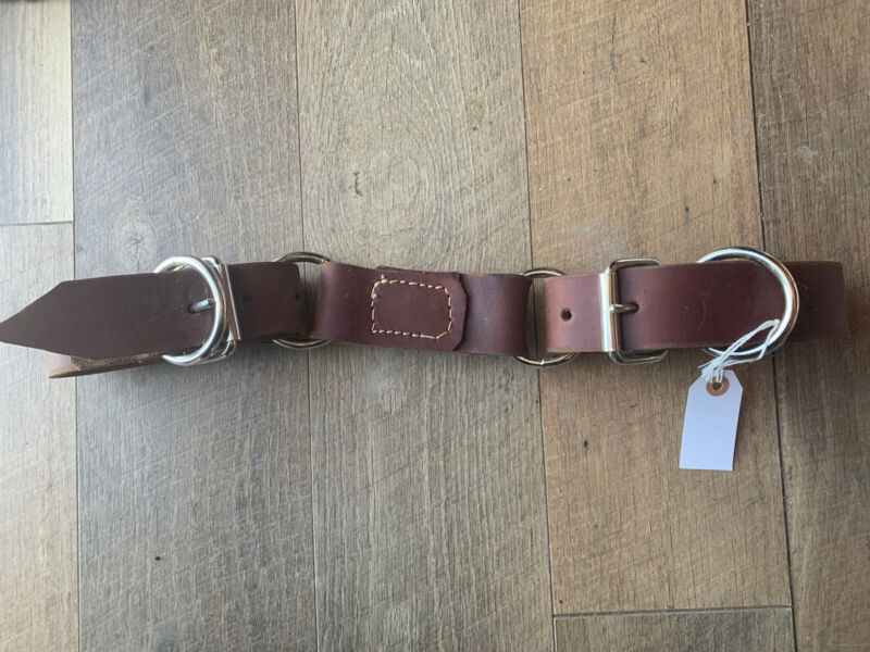 Horse Size Flat Leather Hobbles with Adjustable Buckles