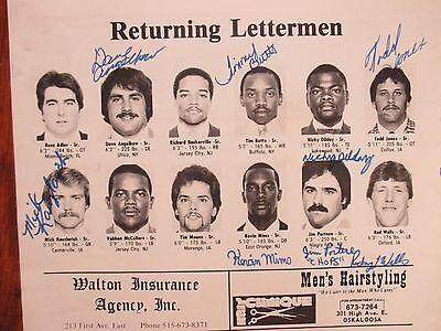 1981 WILLIAM PENN Football Program(32 Signed/JIM  SPRY/TIM BUTTS/MICK KAUZLARICH
