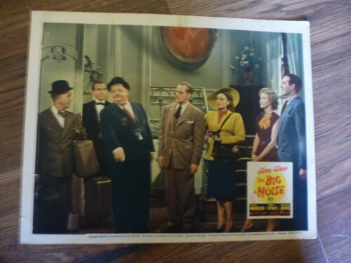 LAUREL AND  HARDY THE BIG NOISE ORIGINAL1944 LOBBY CARD