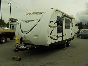 2012 keystone-bullet Premier 19FBPR 19 Foot travel Trailer 1 Sli