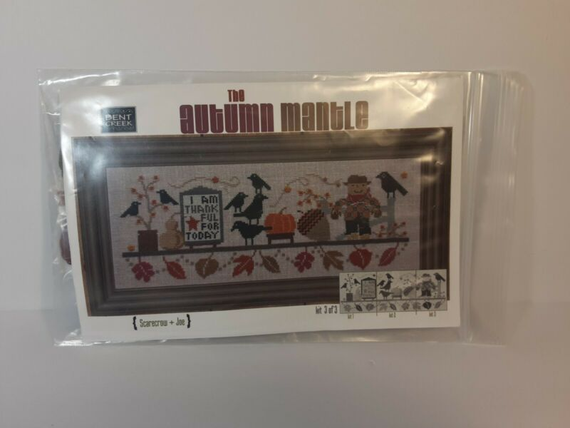 Bent Creek AUTUMN MANTLE Kit Part 3 cross stitch pattern and floss