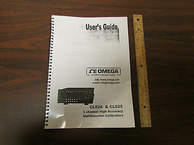 Omega Cl524 Cl525 2-channel High Accuracy Calibrator Users Guide