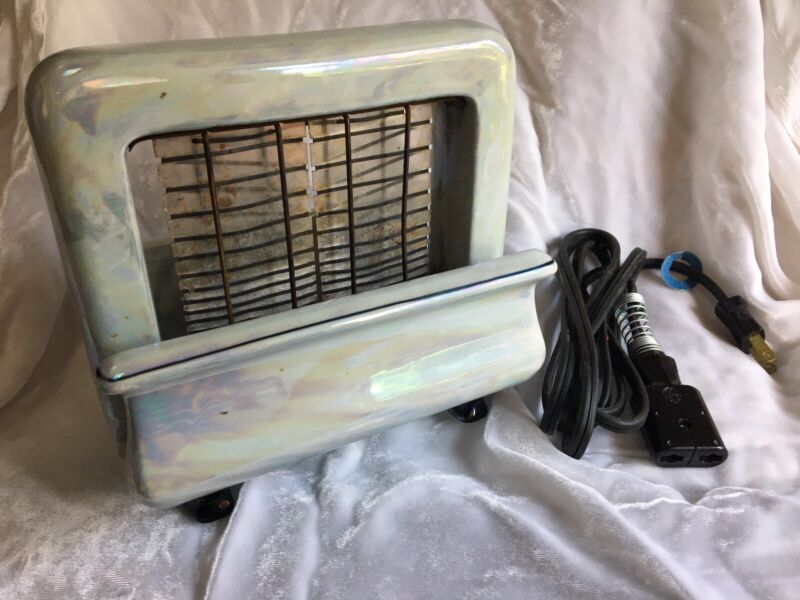 Antique Vintage Toastrite Onyxide China Electric TOASTER Pan Electric Porcelain