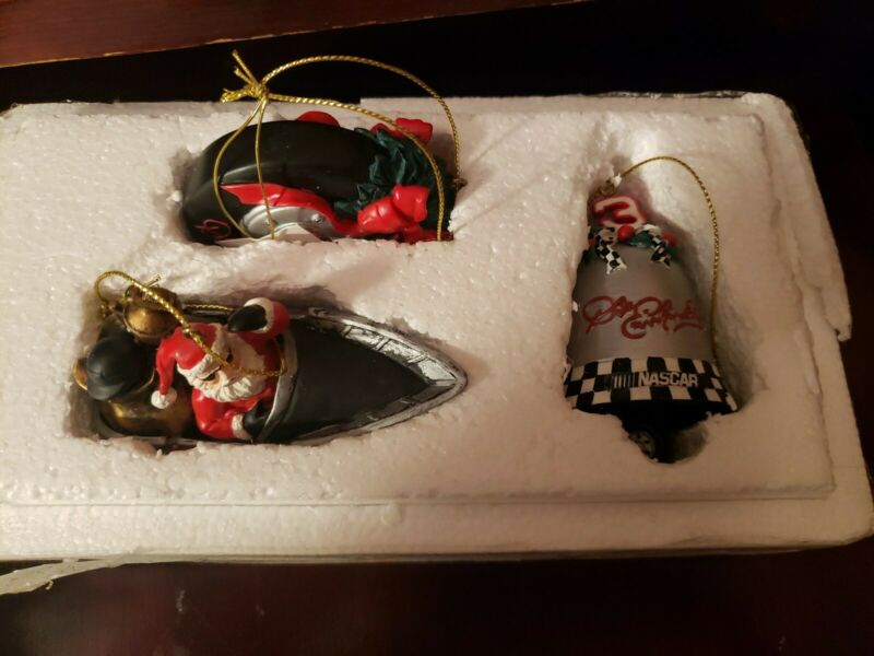 Dale Earnhardt Sr 3 Christmas holiday ornament collection - Includes COA