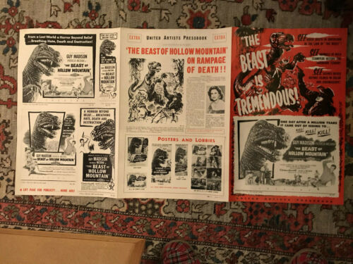"""The Beast Of Hollow Mountain 1956  11x17"""" six page United Artists pressbook"""