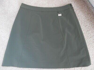 Karen Millen Khaki A Line Short / Mini Skirt Y2K Style - Size 8