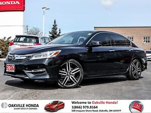 2017 Honda Accord Sedan V6 Touring 6AT 1-Owner|Clean Carfax|Leat