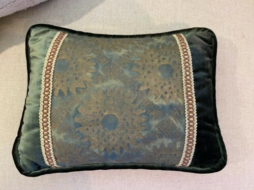 Authentic Fortuny Fabric Small Lumbar Accent Pillow