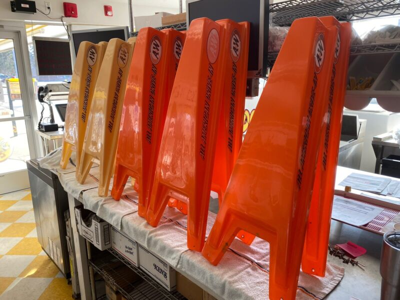 Ordermatic Order-Matic Molded Plastic Tops For Drive-In Menus. See Photos - Used