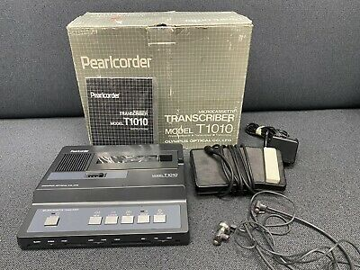 Olympus Pearlcorder T1010 Microcassette Transcriber Ac Pedal Headset Works