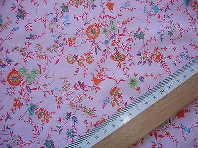 1 Lfm Sommerstoff 2,93€/m²  rosa, Blumenwiese  150cm breit  JC17