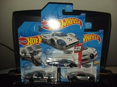 HOT WHEELS 2020 WALMART EXCLUSIVE  ZAMAC #4,5,6- CHEVY, BUGATTI & PORSCHE MINTY!
