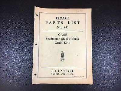 Original Case Seedmeter Steel Hopper Grain Drill Parts List Catalog Dated 31939