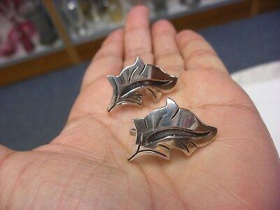 Vintage Jewelry - Pair of Sterling Silver Artist Signed Earrings #6