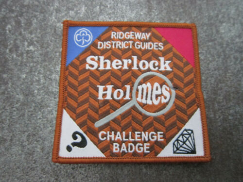 Ridgeway Sherlock Holmes Challenge Girl Guides Cloth Patch Badge (L12S)